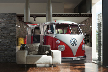 Red Campervan Giant Wallpaper VW Wall Mural
