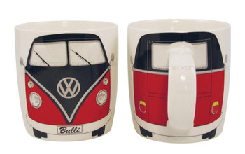 Splitscreen VW Black & Red Campervan Mug