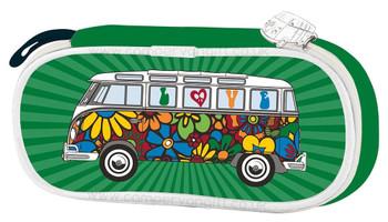 VW Campervan Green Love Bus Pencil / Cosmetic Case