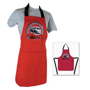 Volkswagen T1 Campervan BBQ Cooking Apron - Red
