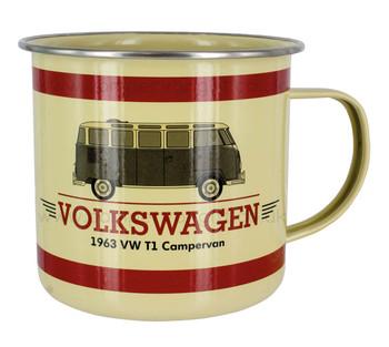 Volkswagen T1 Campervan Enamel Tin Mug