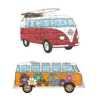 Volkswagen Campervan Travel Jigsaw Puzzles - Two Puzzles Included