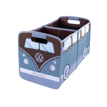 VW Brown & Petrol Blue Campervan Foldable Storage Organiser