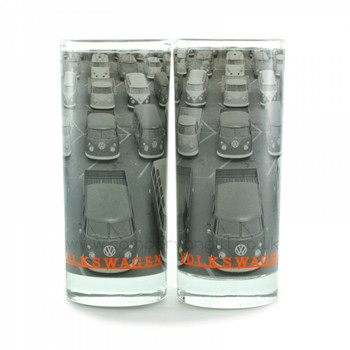 VW Campervan Highball Drinks Glasses Set