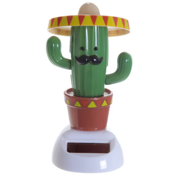 Solar Powered Dancing Cactus With Sombaro