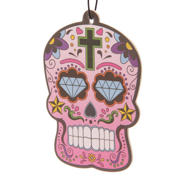 Day of the Dead Skull Cherry Air Freshener