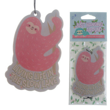 Sloth Living Life in the Slow Lane Strawberry Air Freshener