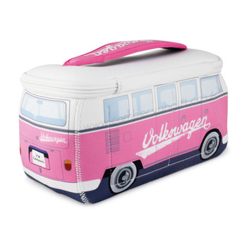 VW Pink Campervan Universal Neoprene Wash Bag