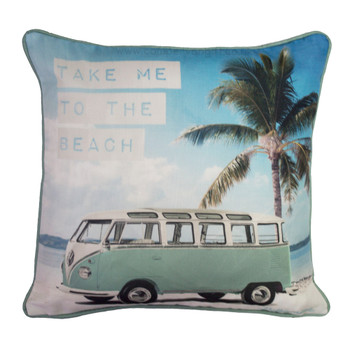 Take Me To The Beach Volkswagen Campervan Cushion