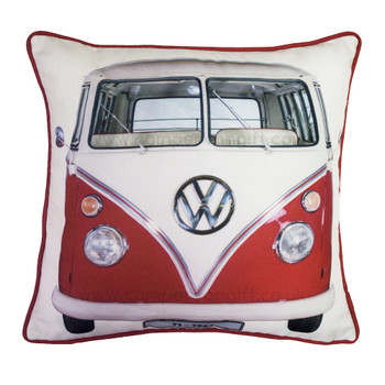 Volkswagen Red Retro T1 Campervan Cushion