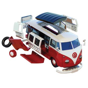 Airfix Quick Build Volkswagen Red Campervan