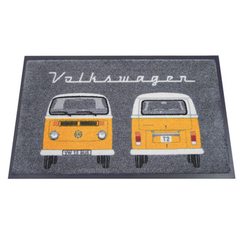 Yellow Bay Window Front & Rear VW Campervan Doormat