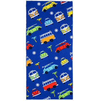 Volkswagen Campervan Kids Blue Beach Towel