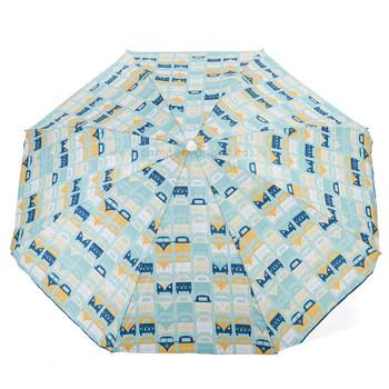 Volkswagen Campervan Blue Beach Parasol