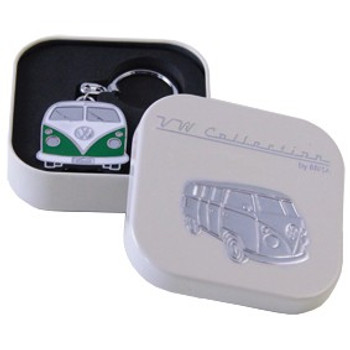 Official VW Collectors Green Keyring in Cream Presentation Tin.