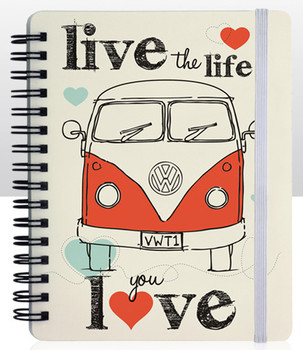 VW Live The Life You Love Notepad