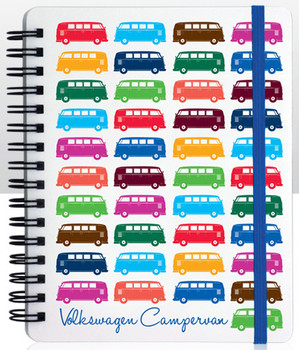 VW Multi Coloured Campervan Notepad