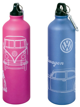 Official VW Aluminium Drinks Flask available in Blue or Pink