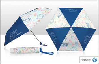 VW Multi Lines Collapsible Campervan Umbrella
