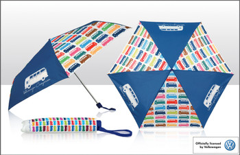 VW Multi Coloured Collapsible Campervan Umbrella