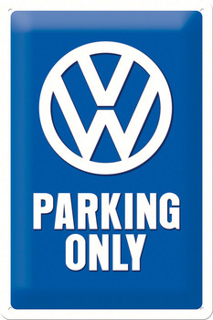 Official VW Parking Only Metal Sign