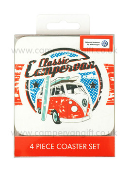 Classic Campervan Coaster Set