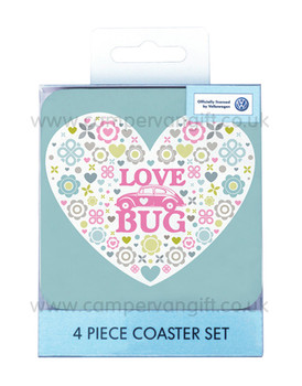 Beetle Love Bug Coaster Set