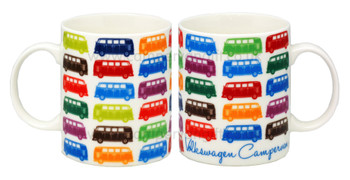 VW Multi Coloured Campervan Mug