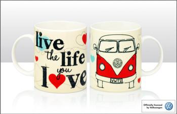 VW Live The Life You Love Campervan Mug