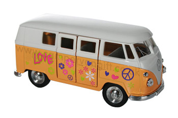 Orange Diecast Campervan Pull Back & Go Toy Model