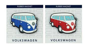 VW Campervan Rubber Fridge Magnet - Side View