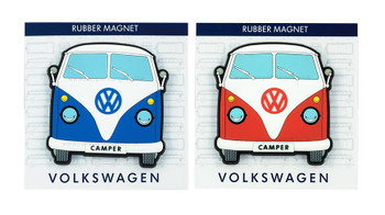 VW Campervan Rubber Fridge Magnet - Front View