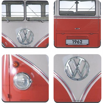 VW Red Campervan Collectible Coaster Set