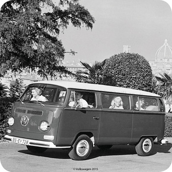 VW Bay Campervan Holiday Single Coaster
