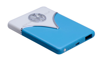 Volkswagen Portable Charging Power Bank - Blue & Cream
