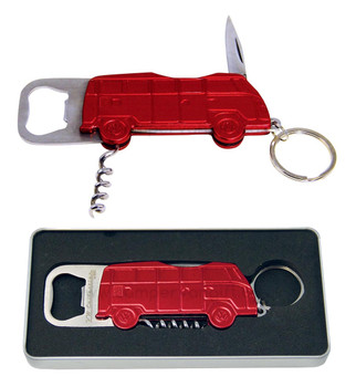 VW T1 Campervan Bottle Opener Key Ring