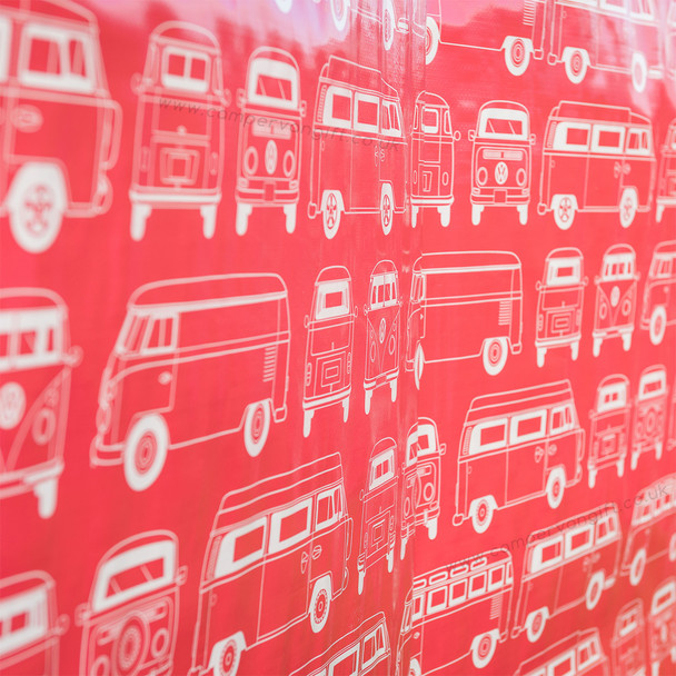 Volkswagen Campervan Red Beach Windbreak