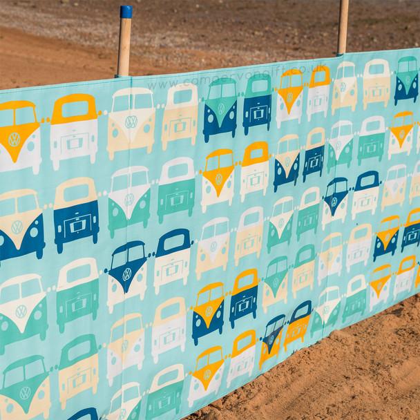 Volkswagen Campervan Blue Beach Windbreak