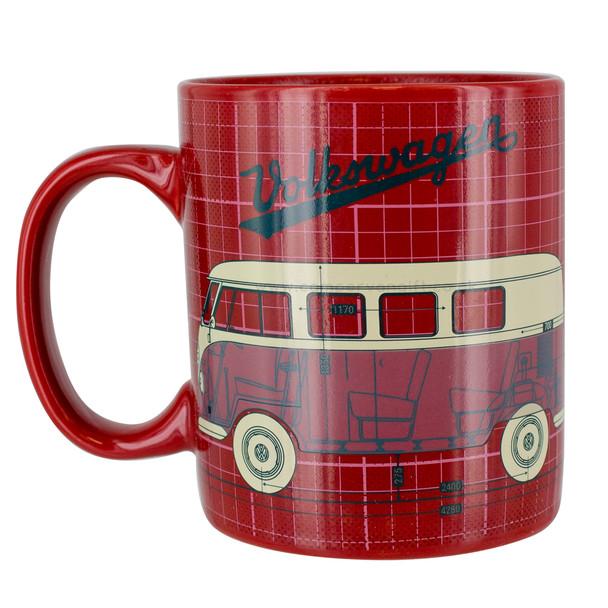 Volkswagen Campervan Red Heat Change Mug