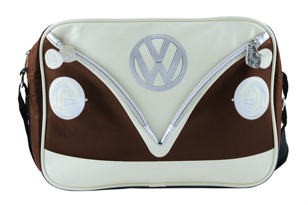 Official VW Retro Dark Brown and Beige Splitscreen Design Bag.