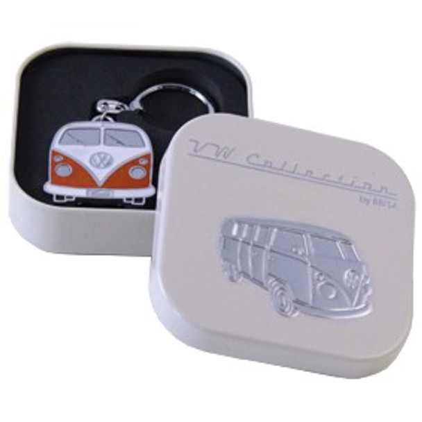 Official VW Collectors Orange Keyring in Cream Presentation Tin.