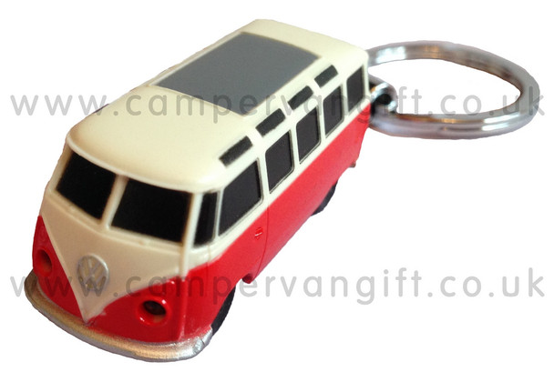 Official VW Campervan Torch Key Ring - Red