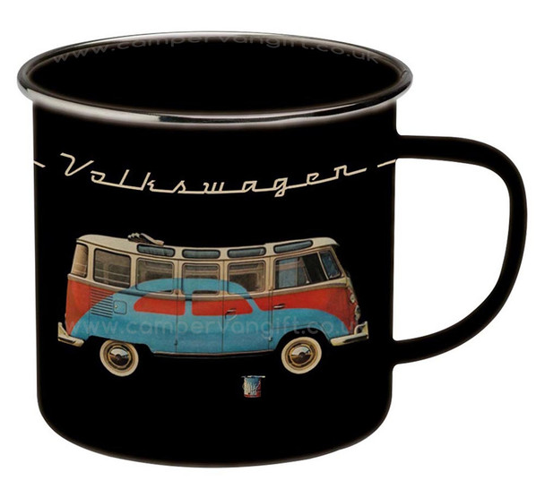 VW T1 Campervan Bus & Bug Enamel Tin Mug