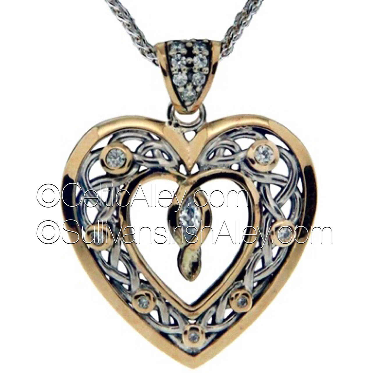 Keith jacks new sterling silver with 10k yellow gold cubic zirconia keith jacks new sterling silver with 10k yellow gold cubic zirconia stone set heart pendant ppx9165 mozeypictures Gallery