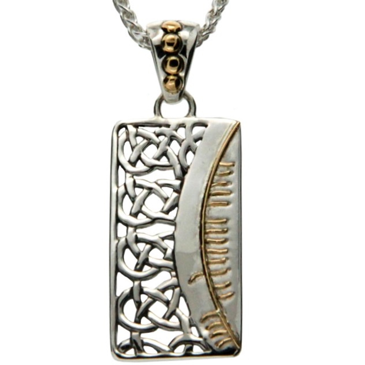 Ss and 18k gold ogham pendant clann family ppx9009 1 keith jack ss and 18k gold ogham pendant clann family ppx9009 1 keith jack aloadofball Images