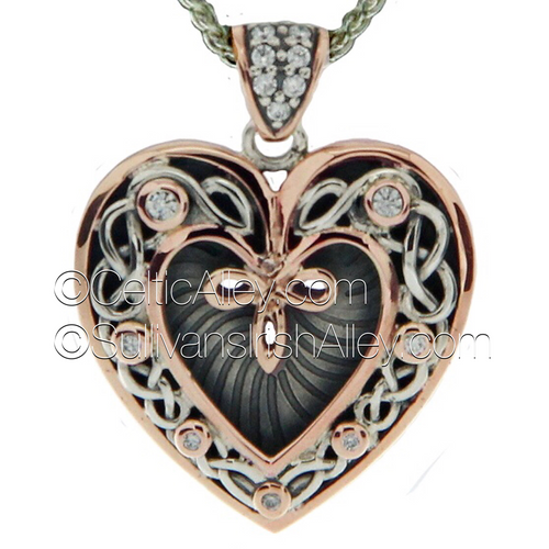Keith jacks new sterling silver with 10k yellow gold cubic zirconia introducing new keith jack heart pendants for valentines day this is one of keith jacks aloadofball