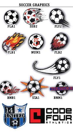 Soccer Logos, Customization for Soccer Uniforms | Code Four Athletics