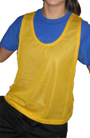 Soccer practice pinnies / pennies by Code Four Athletics, available in 6-packs.