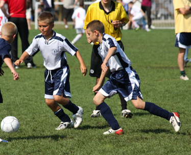 Winchester Soccer Uniform Kit by Code Four Athletics, in navy/white.