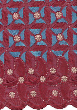 Voile Lace 232 (Burgundy)